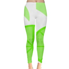 Fruit Lime Green Leggings  by Alisyart