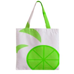 Fruit Lime Green Grocery Tote Bag by Alisyart