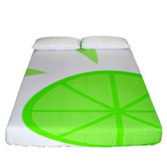 Fruit Lime Green Fitted Sheet (california King Size) by Alisyart