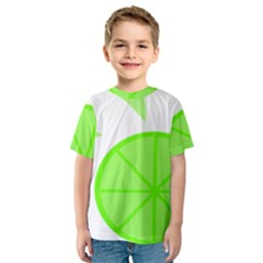 Fruit Lime Green Kids  Sport Mesh Tee by Alisyart
