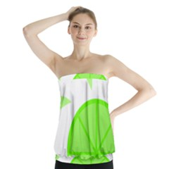 Fruit Lime Green Strapless Top
