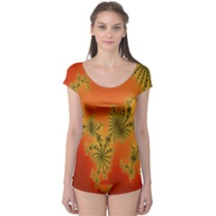 Decorative Fractal Spiral Boyleg Leotard  by Simbadda