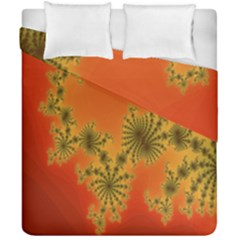 Decorative Fractal Spiral Duvet Cover Double Side (california King Size) by Simbadda