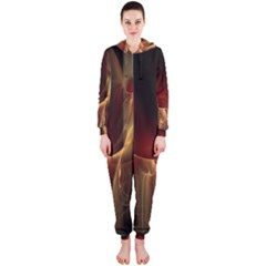 Fractal Image Hooded Jumpsuit (Ladies)