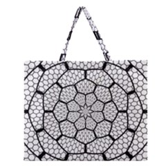 Grillage Zipper Large Tote Bag by Simbadda