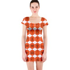 Icon Library Web Icons Internet Social Networks Short Sleeve Bodycon Dress