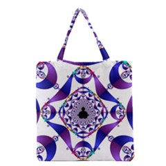 Ring Segments Grocery Tote Bag by Simbadda