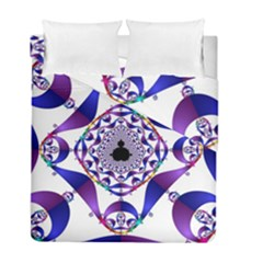 Ring Segments Duvet Cover Double Side (full/ Double Size) by Simbadda