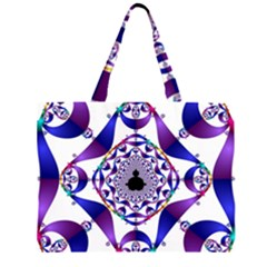 Ring Segments Zipper Large Tote Bag by Simbadda