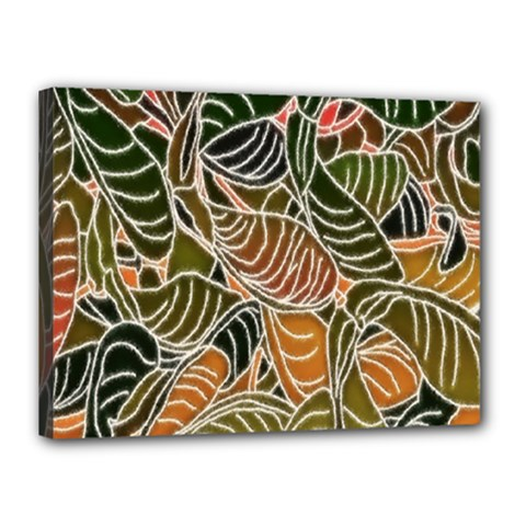 Floral Pattern Background Canvas 16  X 12  by Simbadda