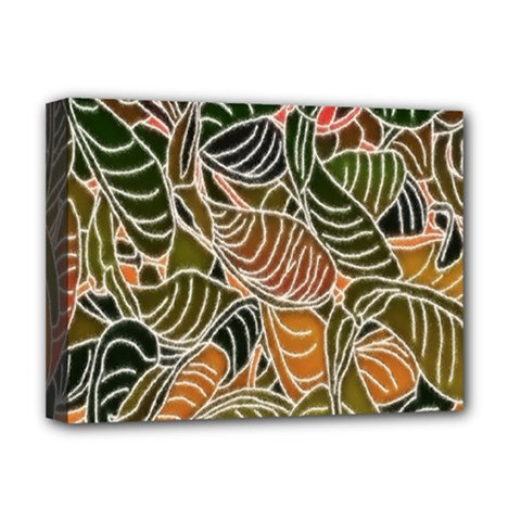 Floral Pattern Background Deluxe Canvas 16  X 12   by Simbadda