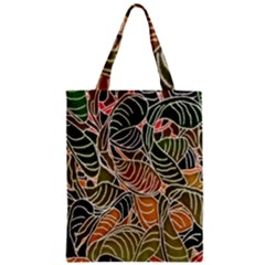 Floral Pattern Background Zipper Classic Tote Bag by Simbadda