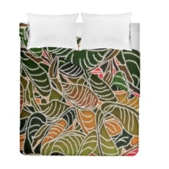 Floral Pattern Background Duvet Cover Double Side (full/ Double Size) by Simbadda