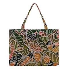 Floral Pattern Background Medium Tote Bag by Simbadda