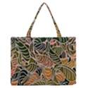 Floral Pattern Background Medium Zipper Tote Bag View1