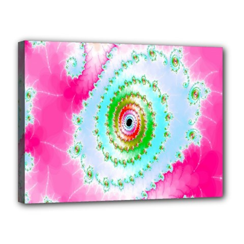 Decorative Fractal Spiral Canvas 16  X 12  by Simbadda