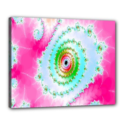 Decorative Fractal Spiral Canvas 20  X 16  by Simbadda