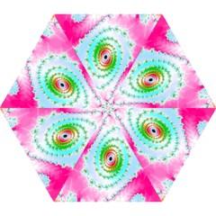 Decorative Fractal Spiral Mini Folding Umbrellas by Simbadda