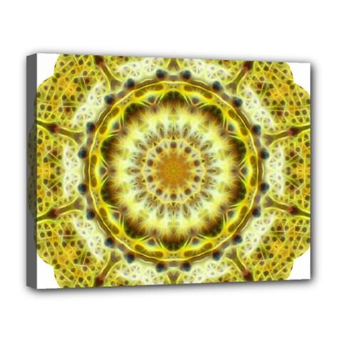 Fractal Flower Canvas 14  X 11  by Simbadda