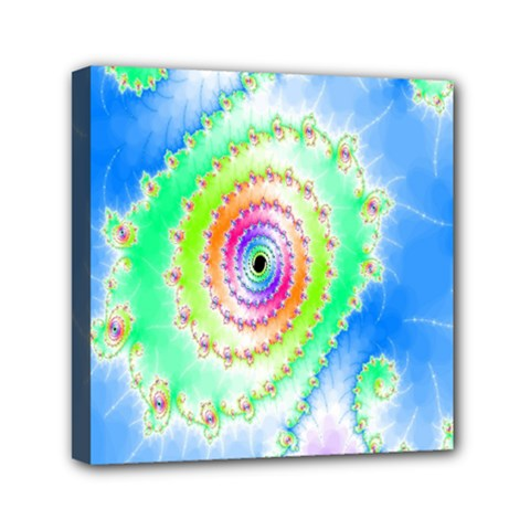 Decorative Fractal Spiral Mini Canvas 6  X 6  by Simbadda