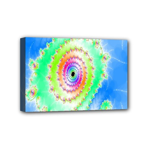 Decorative Fractal Spiral Mini Canvas 6  X 4  by Simbadda