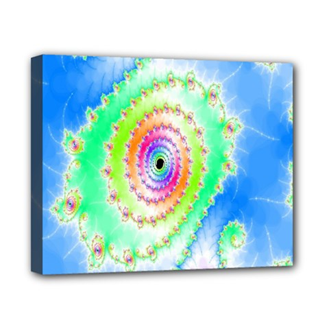 Decorative Fractal Spiral Canvas 10  X 8  by Simbadda