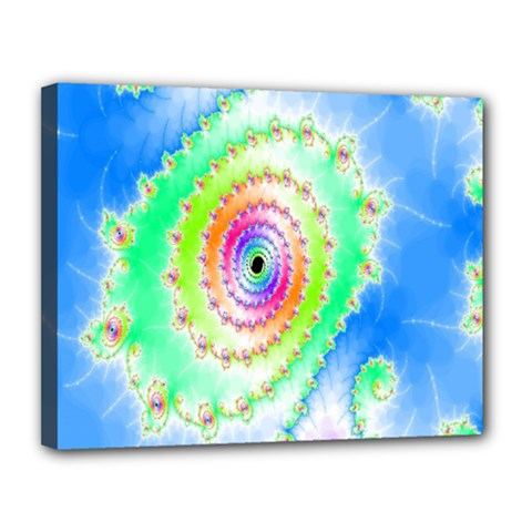 Decorative Fractal Spiral Canvas 14  X 11  by Simbadda