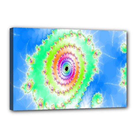 Decorative Fractal Spiral Canvas 18  X 12  by Simbadda