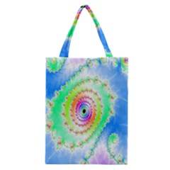 Decorative Fractal Spiral Classic Tote Bag by Simbadda