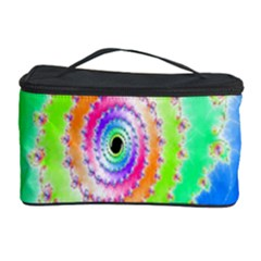 Decorative Fractal Spiral Cosmetic Storage Case by Simbadda