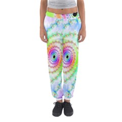 Decorative Fractal Spiral Women s Jogger Sweatpants by Simbadda