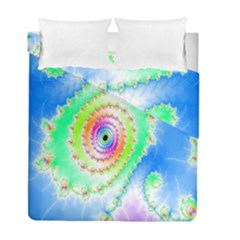 Decorative Fractal Spiral Duvet Cover Double Side (full/ Double Size) by Simbadda