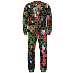 Colorful Abstract Background Onepiece Jumpsuit (men)