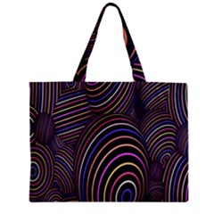 Abstract Colorful Spheres Zipper Mini Tote Bag by Simbadda