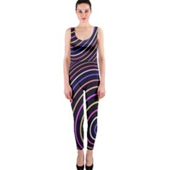 Abstract Colorful Spheres Onepiece Catsuit by Simbadda