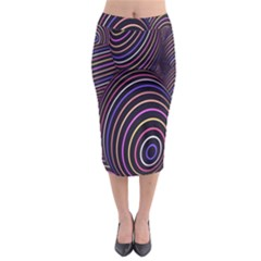 Abstract Colorful Spheres Midi Pencil Skirt by Simbadda