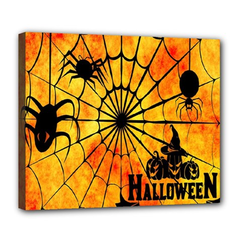 Halloween Weird  Surreal Atmosphere Deluxe Canvas 24  X 20   by Simbadda