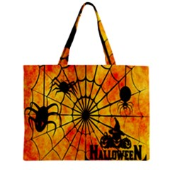 Halloween Weird  Surreal Atmosphere Zipper Mini Tote Bag by Simbadda