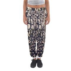 Wallpaper Texture Pattern Design Ornate Abstract Women s Jogger Sweatpants by Simbadda
