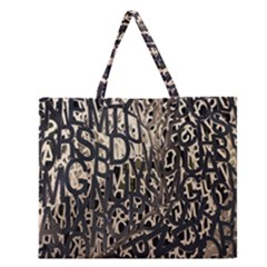 Wallpaper Texture Pattern Design Ornate Abstract Zipper Large Tote Bag by Simbadda