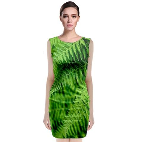Sleeveless Velvet Midi Dress