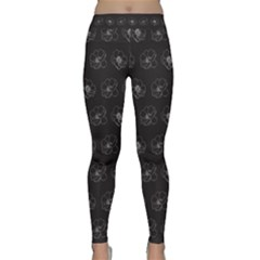 Floral Pattern Classic Yoga Leggings by Valentinaart
