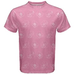 Pink Pattern Men s Cotton Tee by Valentinaart
