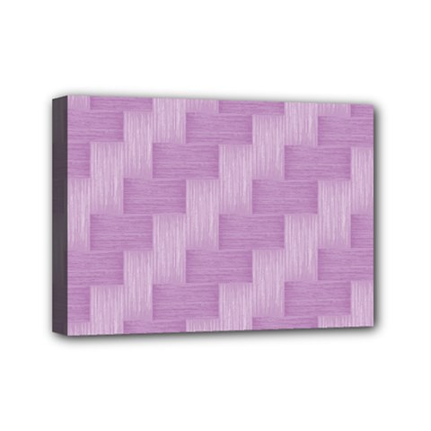 Purple Pattern Mini Canvas 7  X 5  by Valentinaart