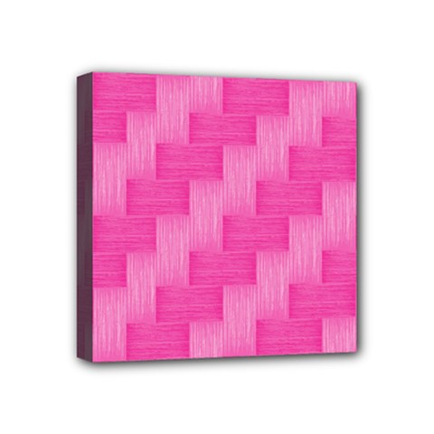 Pink Pattern Mini Canvas 4  X 4  by Valentinaart