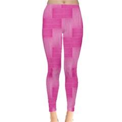 Pink pattern Leggings  by Valentinaart