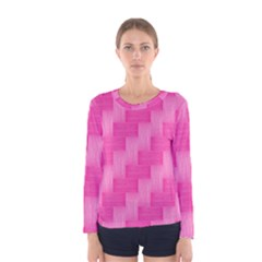 Pink Pattern Women s Long Sleeve Tee by Valentinaart