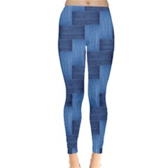 Blue pattern Leggings  by Valentinaart