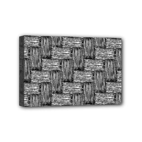 Gray Pattern Mini Canvas 6  X 4  by Valentinaart