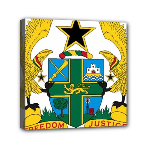 Coat Of Arms Of Ghana Mini Canvas 6  X 6  by abbeyz71